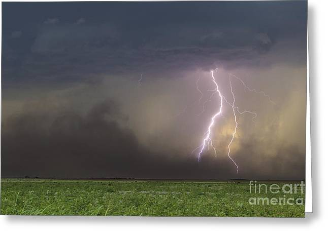 Lightning Photographer Greeting Cards - The Restless Earth Greeting Card by Ryan Smith
