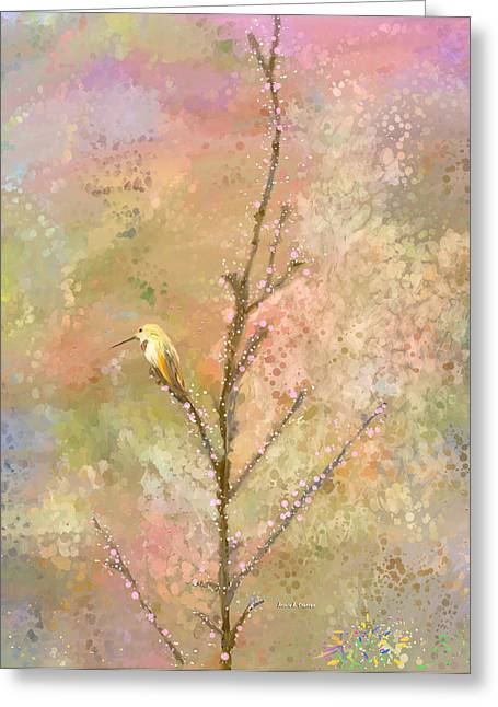 Bubbly Paintings Greeting Cards - The Restlessness of Springtime Rest Greeting Card by Angela A Stanton