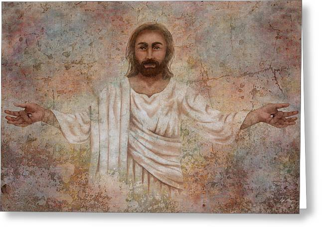 Resurrection Digital Greeting Cards - The Resurrection and the Life Greeting Card by April Moen