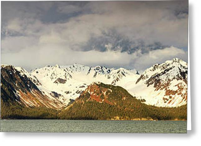 The Resurrection Mountains Greeting Card by Panoramic Images
