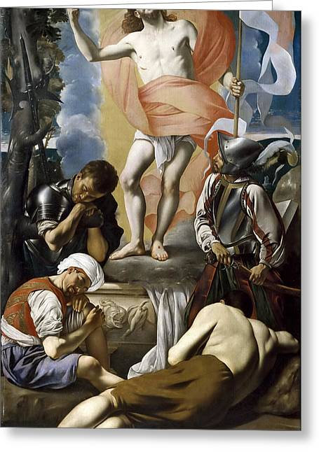 The Resurrection Of Christ Greeting Cards - The Resurrection of Christ Greeting Card by Juan Bautista Maino