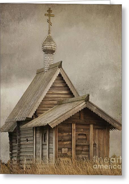 The Resurrection Of Lazarus. Kizhi Island. Russia Greeting Card by Juli Scalzi