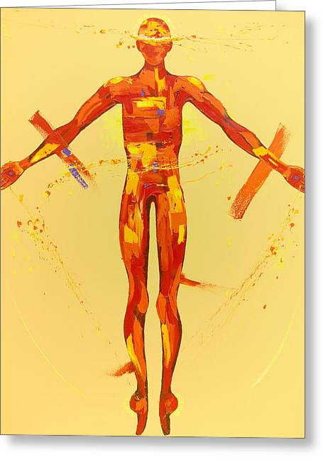 Abstract Spiritual Art Greeting Cards - The Resurrection Station 15 Greeting Card by Penny Warden