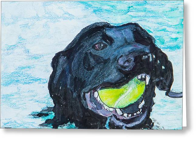 Mixed Labrador Retriever Greeting Cards - The Retrieve Greeting Card by Roger Wedegis