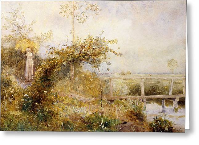 The Return from the Harvest Field Greeting Card by John William North