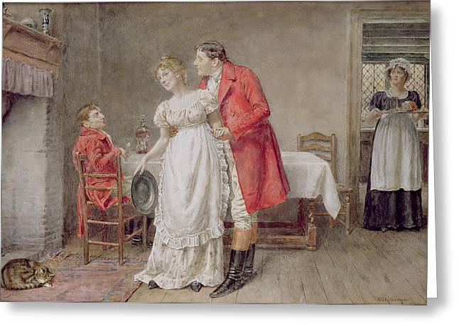 Embrace Greeting Cards - The Return of the Huntsman  Greeting Card by George Goodwin Kilburne