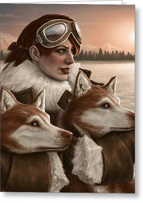 Sled Dogs Greeting Cards - The Return of the Sun Greeting Card by Mark Zelmer