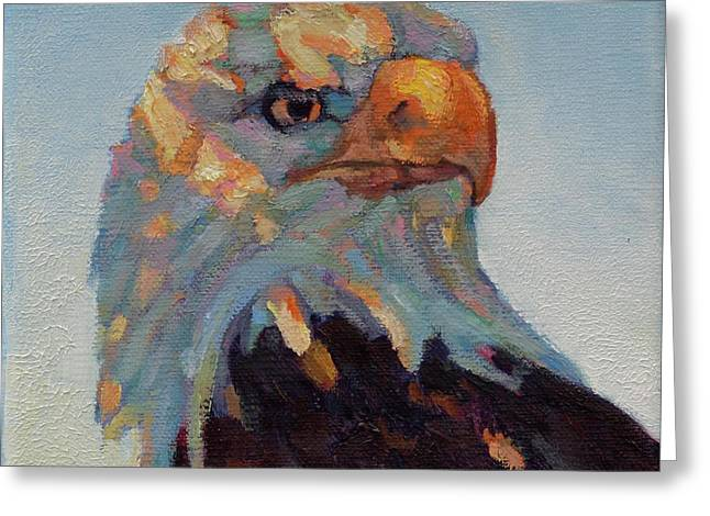 Animal Patriotic Art Greeting Cards - The Return Greeting Card by Patricia A Griffin
