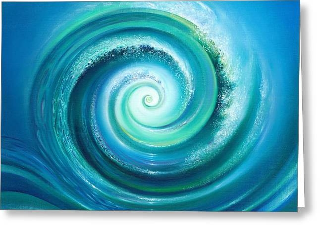 Philosophical Movement Greeting Cards - The Return Wave Greeting Card by Anna Ewa Miarczynska