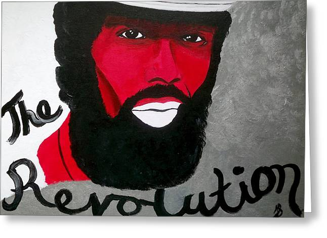 Exhibitionist Greeting Cards - The Revolution Greeting Card by Janeen Stone Morehead