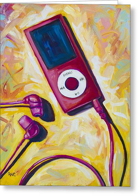 Music Ipod Greeting Cards - The Revolutionary Greeting Card by Eve  Wheeler