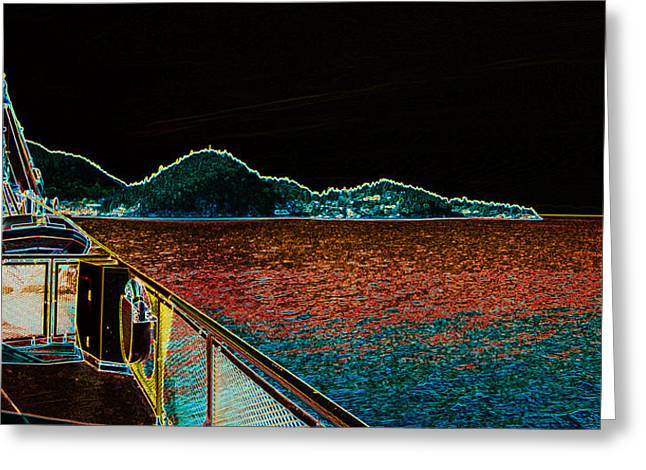 North Vancouver Mixed Media Greeting Cards - The Rhib Greeting Card by Travis Crockart
