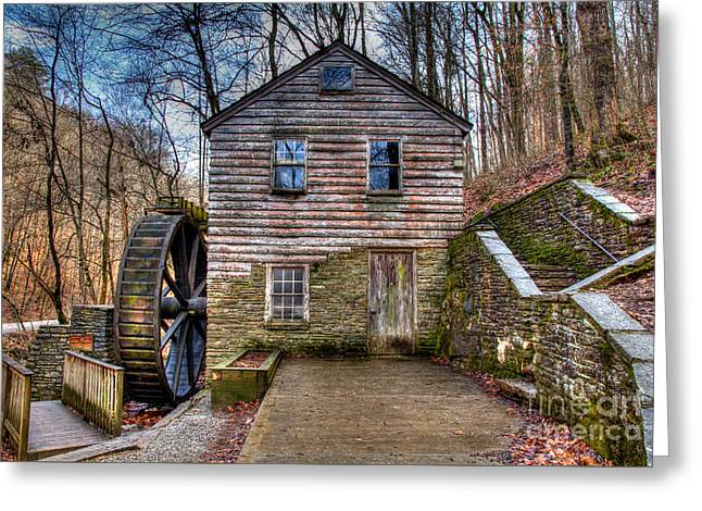 Watershed Greeting Cards - The Rice Gristmill Hdr Greeting Card by Douglas Stucky