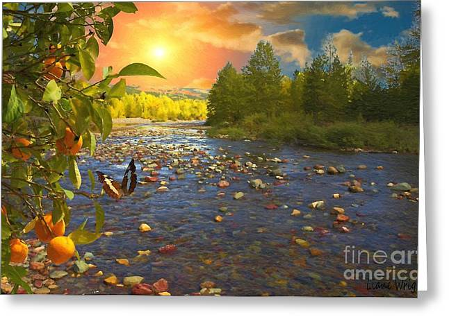 Landscape Posters Greeting Cards - The Riches Of Life Greeting Card by Liane Wright