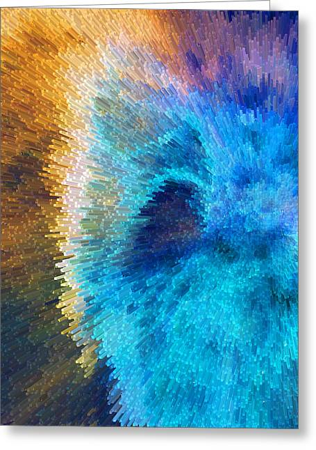 Mustard Greeting Cards - The Right Direction - Abstract Art By Sharon Cummings Greeting Card by Sharon Cummings