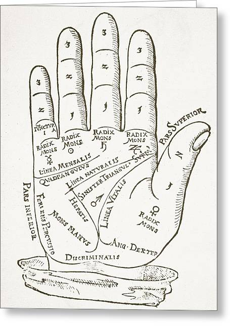 Fortune-telling Greeting Cards - The Right Hand, Copy Of An Illustration Greeting Card by German School