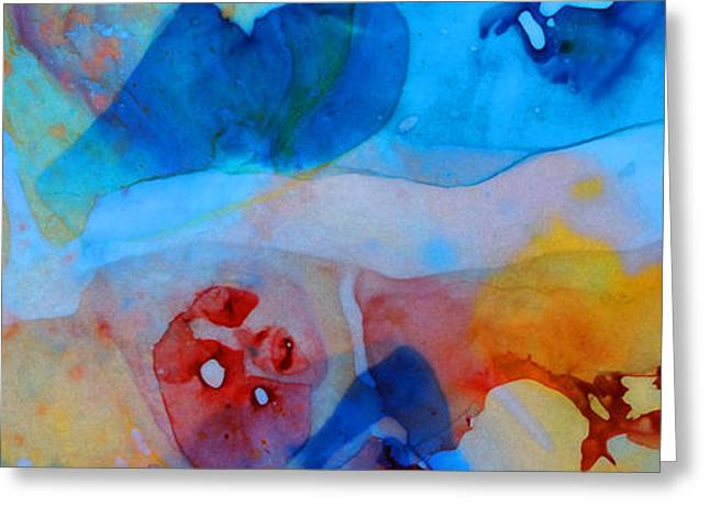 Canvas Wall Art Greeting Cards - The Right Path - Colorful Abstract Art by Sharon Cummings Greeting Card by Sharon Cummings