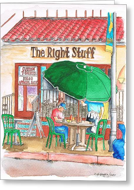 The Right Stuff Greeting Cards - The Right Stuff in Palm Springs - California Greeting Card by Carlos G Groppa