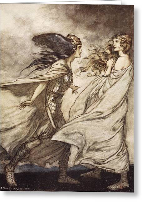 The Ring Upon Thy Hand - ..ah Greeting Card by Arthur Rackham