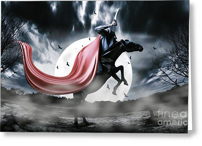 Headless Horseman Greeting Cards - The rise of the Headless Horseman Greeting Card by Ryan Jorgensen