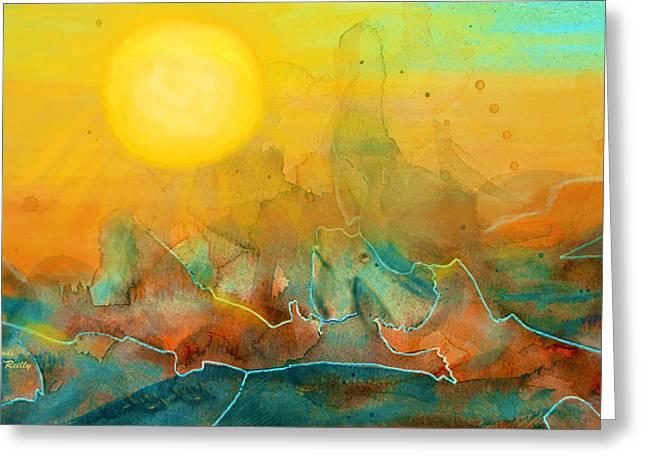 Sandi Oreilly Greeting Cards - The Rising Sun Greeting Card by Sandi OReilly