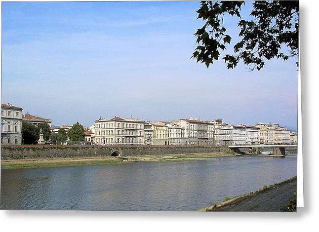 Firenza Greeting Cards - The River Arno in Florence 2 Greeting Card by Paul Williams