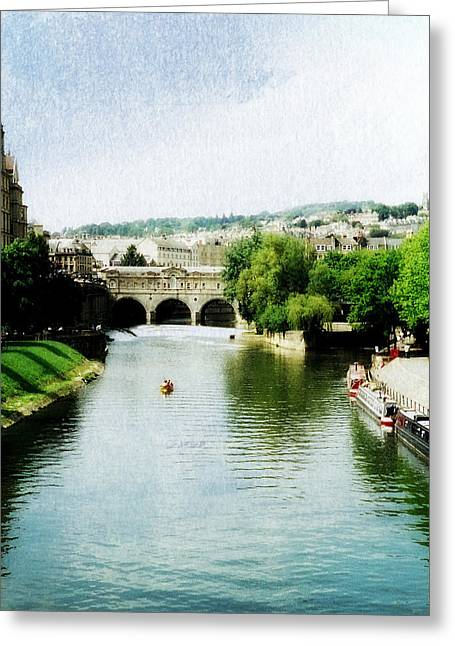Pulteney Bridge Greeting Cards - The River Avon Greeting Card by Marilyn Wilson