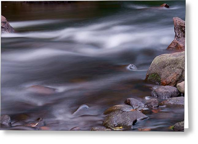 Flowing Stream Greeting Cards - The River Flows 3 Greeting Card by Mike McGlothlen
