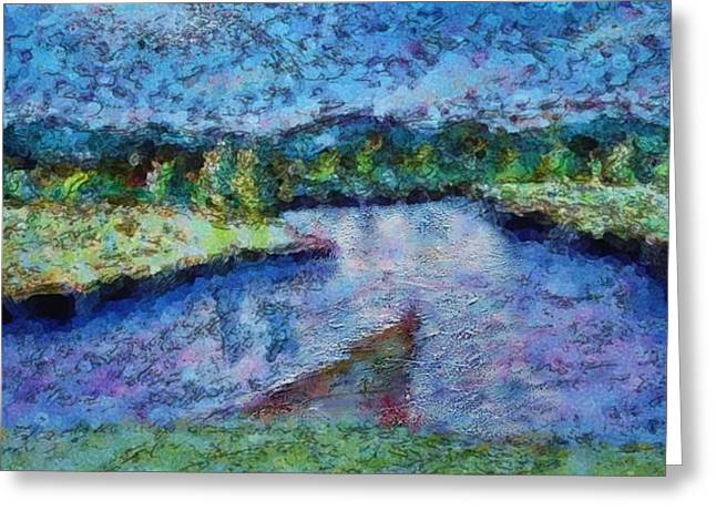 Riviere Paintings Greeting Cards - The River Greeting Card by Ion vincent DAnu