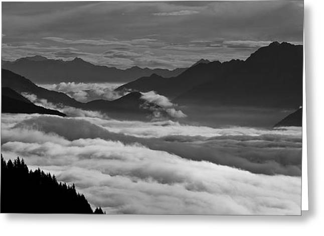 Black Top Greeting Cards - The river of clouds Greeting Card by Marco Affini