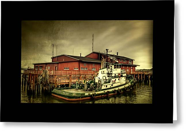 Canvas Wall Art Greeting Cards - The River Bar Pilot Station Greeting Card by Thom Zehrfeld