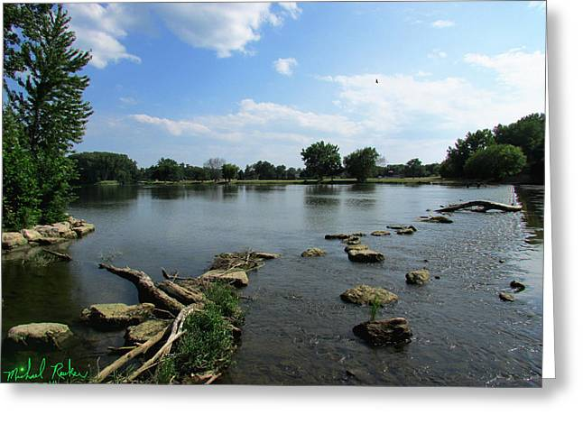 In 1812 Greeting Cards - The River Raisin Greeting Card by Michael Rucker