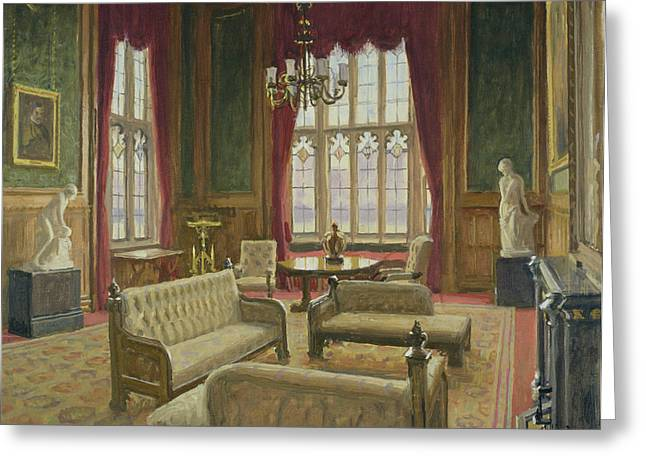 Reception Photographs Greeting Cards - The River Room, Palace Of Westminster Oil On Canvas Greeting Card by Julian Barrow