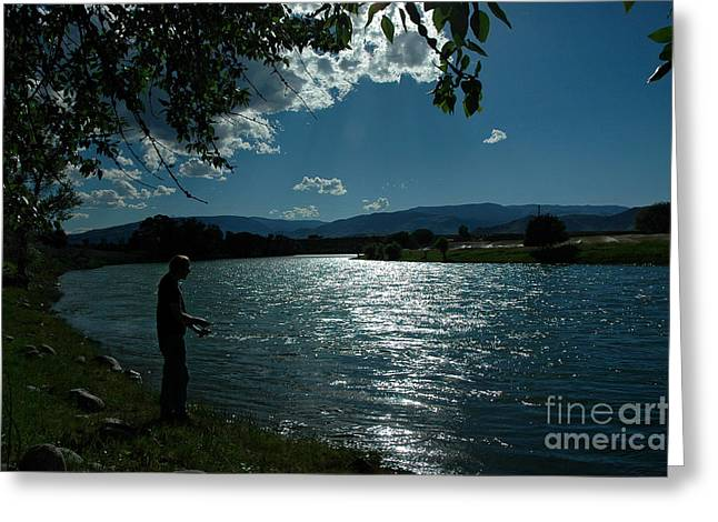 Overhang Greeting Cards - The River Runs Through It Greeting Card by Nick  Boren