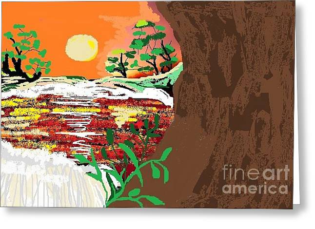 The River Greeting Card by Sherry  Hatcher