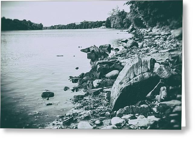 The Rivers Edge Greeting Card by Karol Livote