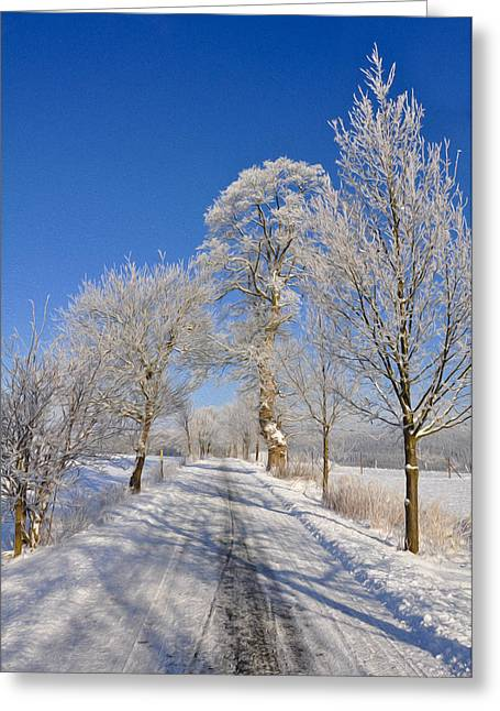 Peaceful Scenery Greeting Cards - The Road Greeting Card by Aged Pixel