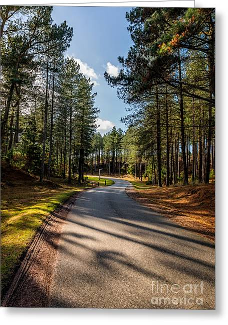 Signed Digital Greeting Cards - The Road Ahead Greeting Card by Adrian Evans