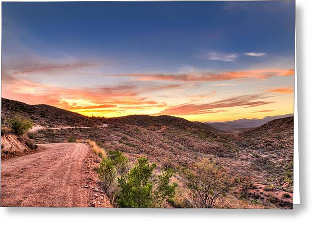Mountain Road Greeting Cards - The Road Ahead Greeting Card by Anthony Citro