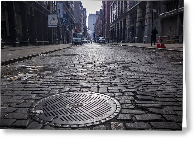 Soho Greeting Cards - The Road Ahead Greeting Card by Johnny Lam
