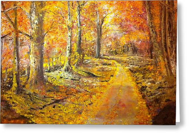 B Russo Greeting Cards - The Road Greeting Card by B Russo