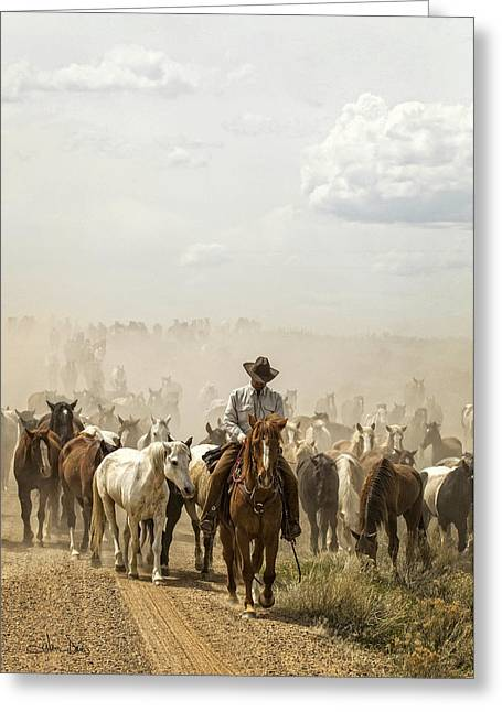Artistic Photography Greeting Cards - The Road Home 2013 Greeting Card by Joan Davis