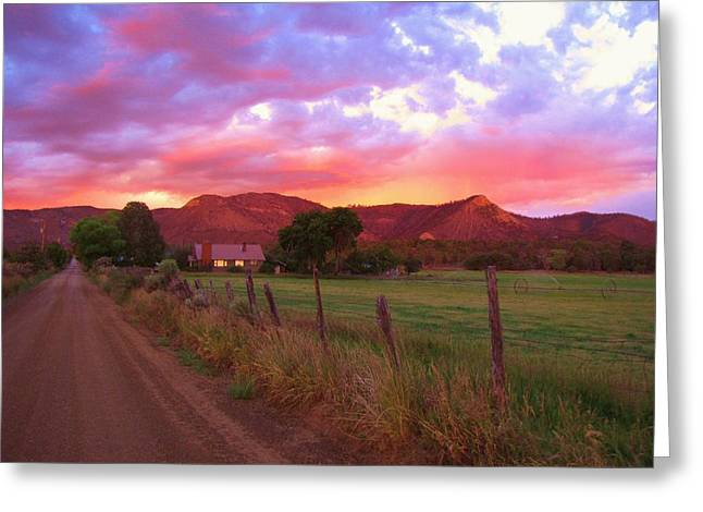 The Road Home Greeting Card by Feva  Fotos
