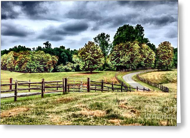 Surreal Landscape Greeting Cards - The Road Home II Greeting Card by Dan Carmichael