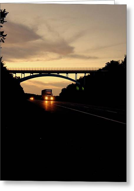 Blacktop Greeting Cards - The Road Home Greeting Card by Off The Beaten Path Photography - Andrew Alexander