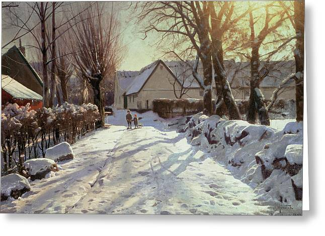 The Road Home Greeting Card by Peder Monsted
