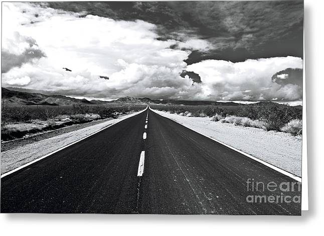 Middle Of Nowhere Greeting Cards - The Road Less Traveled Greeting Card by Eddie Yerkish