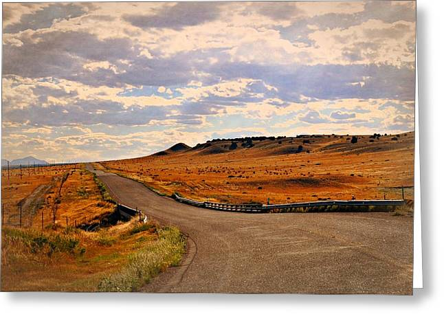 The Road Less Traveled Greeting Card by Marty Koch