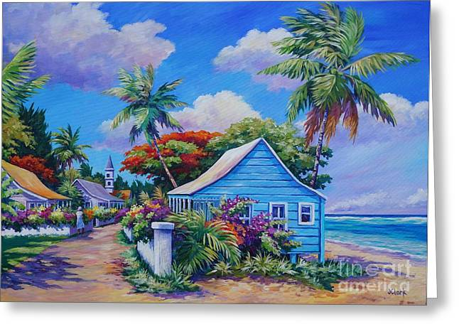 Jamaica Paintings Greeting Cards - The Road Less Travelled Greeting Card by John Clark