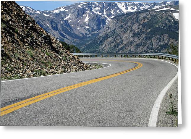 Landscape Photographs Greeting Cards - The Road Greeting Card by Mike Podhorzer